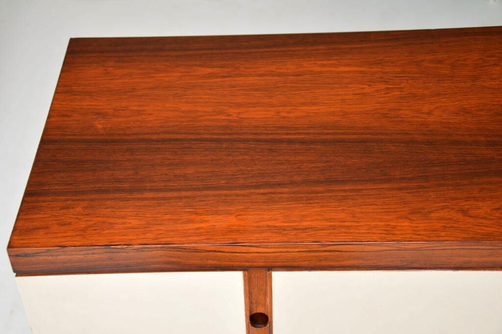 danish retro vintage rosewood drinks cabinet