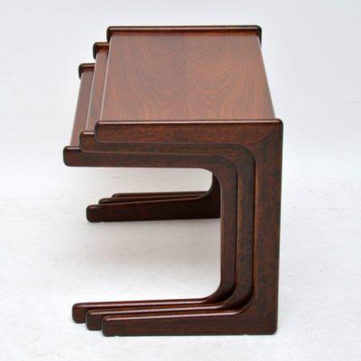 danish retro vintage rosewood nest of tables
