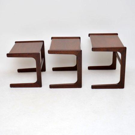 1960's Danish Rosewood Nest of Three Tables