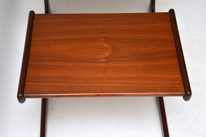 danish retro vintage rosewood nest of tables