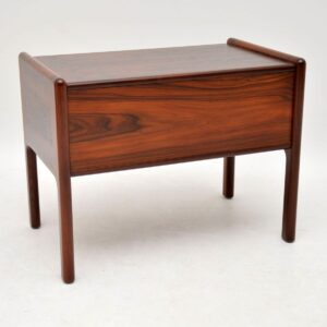 danish rosewood retro side table bedside