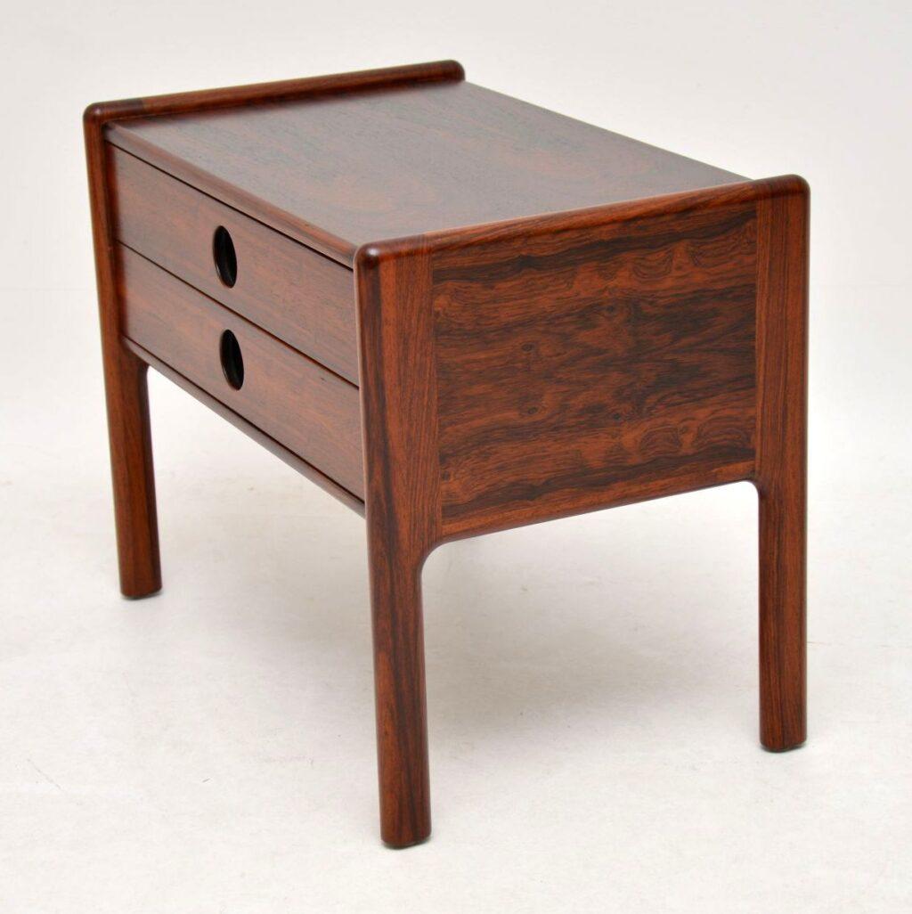 danish rosewood retro side table bedside