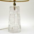 1960's Pair of Vintage Glass Table Lamps