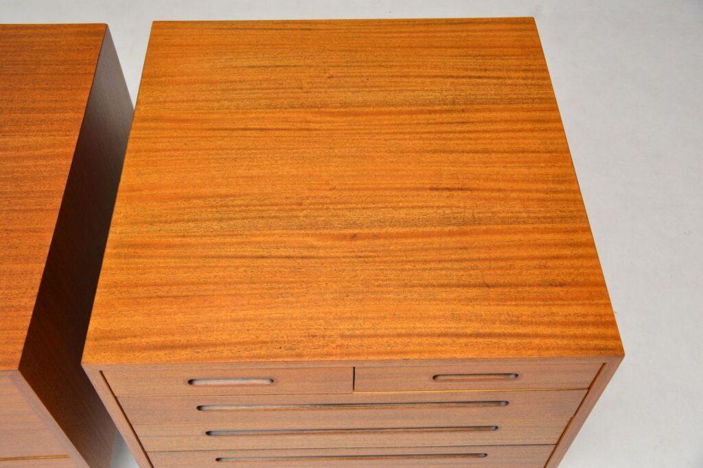 pair of retro vintage mahogany chests edward wormley dunbar