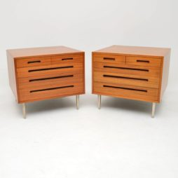 pair of retro vintage mahogany chests edward wormley dunbar