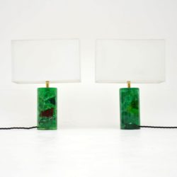 1960's Pair of Vintage Resin Table Lamps