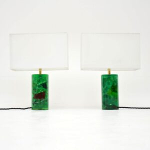pair of retro vintage table lamps