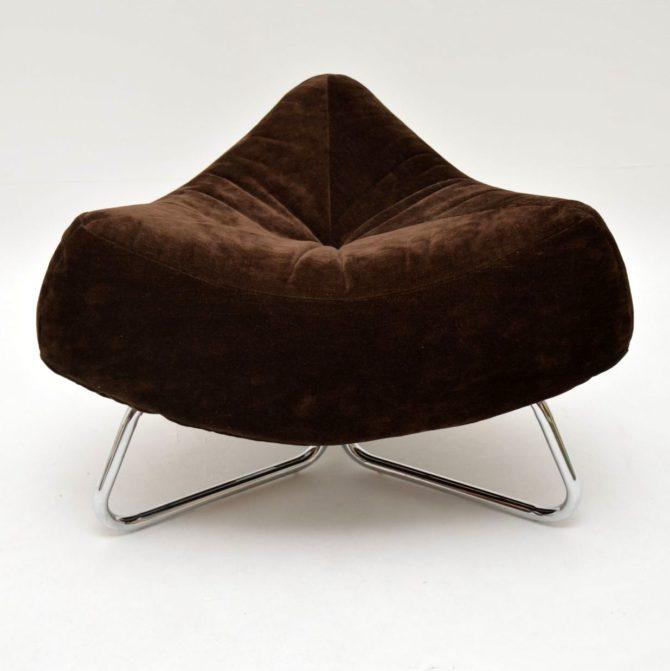 retro vintage armchair stool chrome