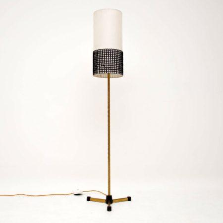 1960's Vintage Brass Floor Lamp