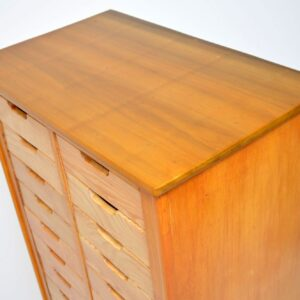 1950's Satin Wood & Elm Haberdashery Chest of Drawers