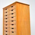 1950's Satin Wood & Elm Haberdashery Chest of Drawers