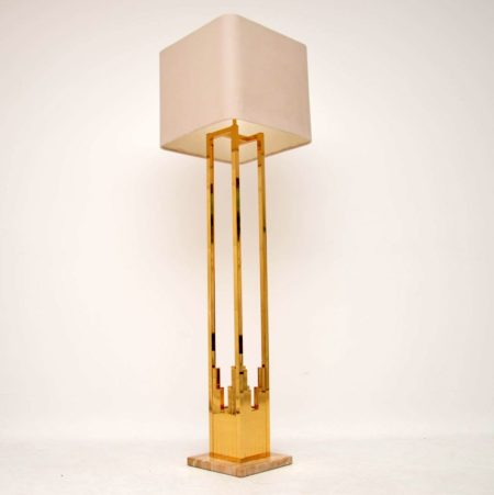 1970's Vintage Italian Brass & Marble Lamp by F. Fabbian