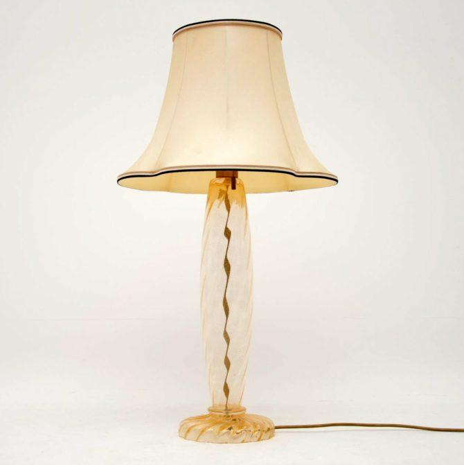 retro vintage murano glass italian lamp donghia