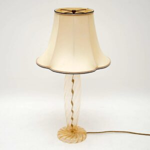 Italian Hand Blown Murano Glass Lamp by John Hutton for Donghia