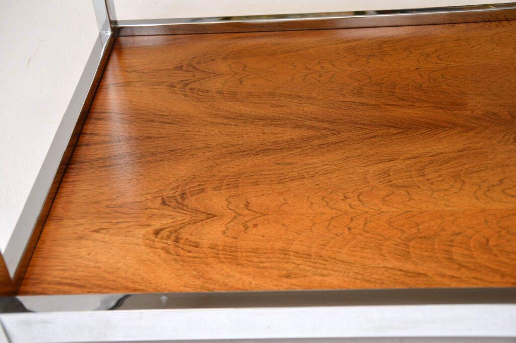 retro vintage rosewood chrome coffee table merrow associates mda howard miller