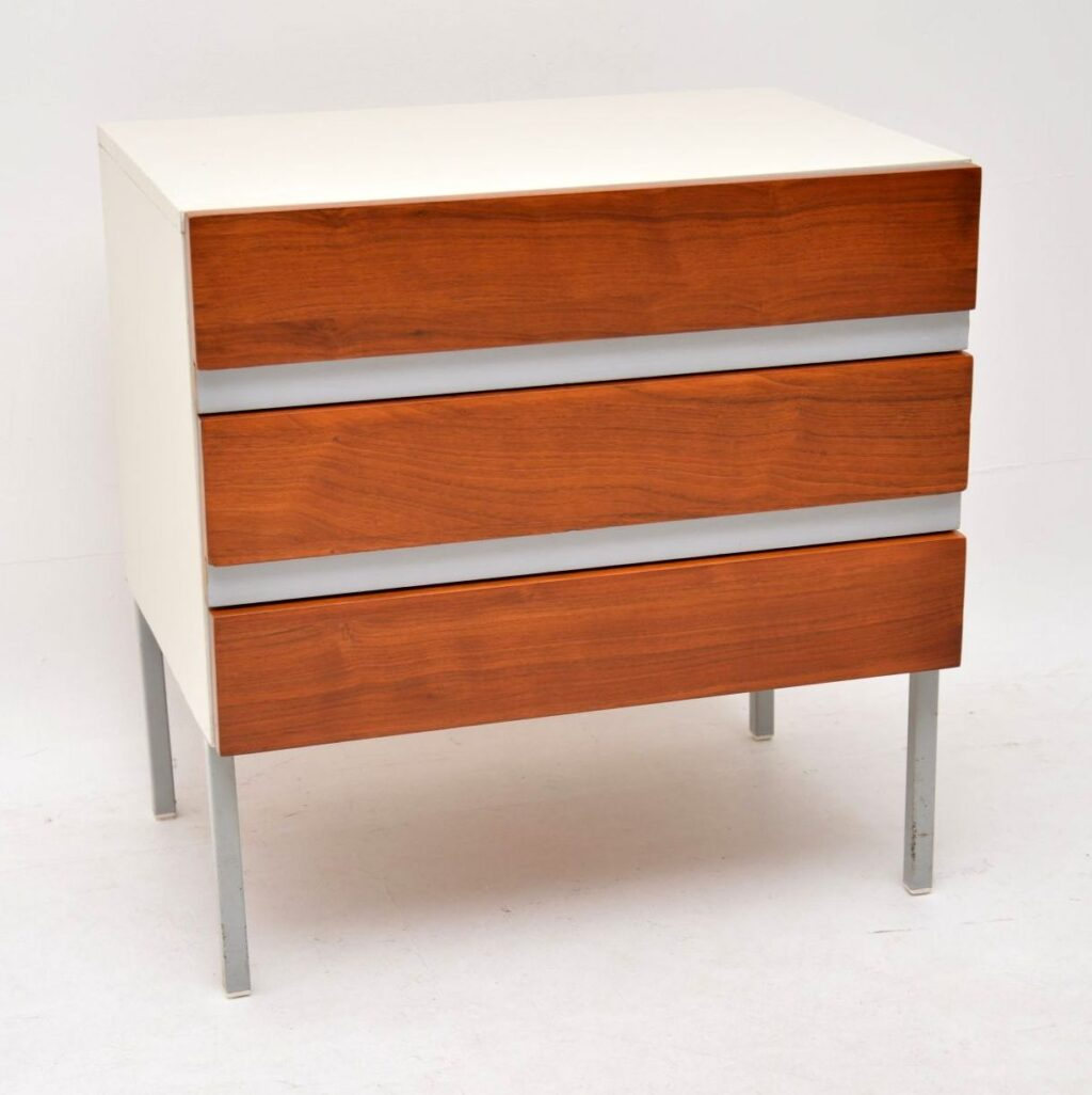 vintage retro stag opus walnut chest of drawers
