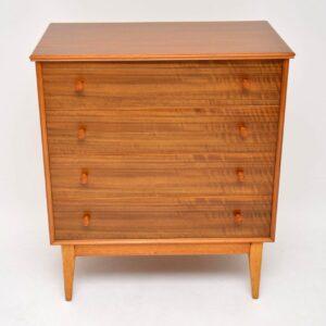 retro vintage walnut chest of drawers
