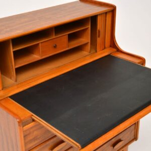 retro vintage walnut writing bureau