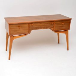 vintage retro walnut desk alfred cox