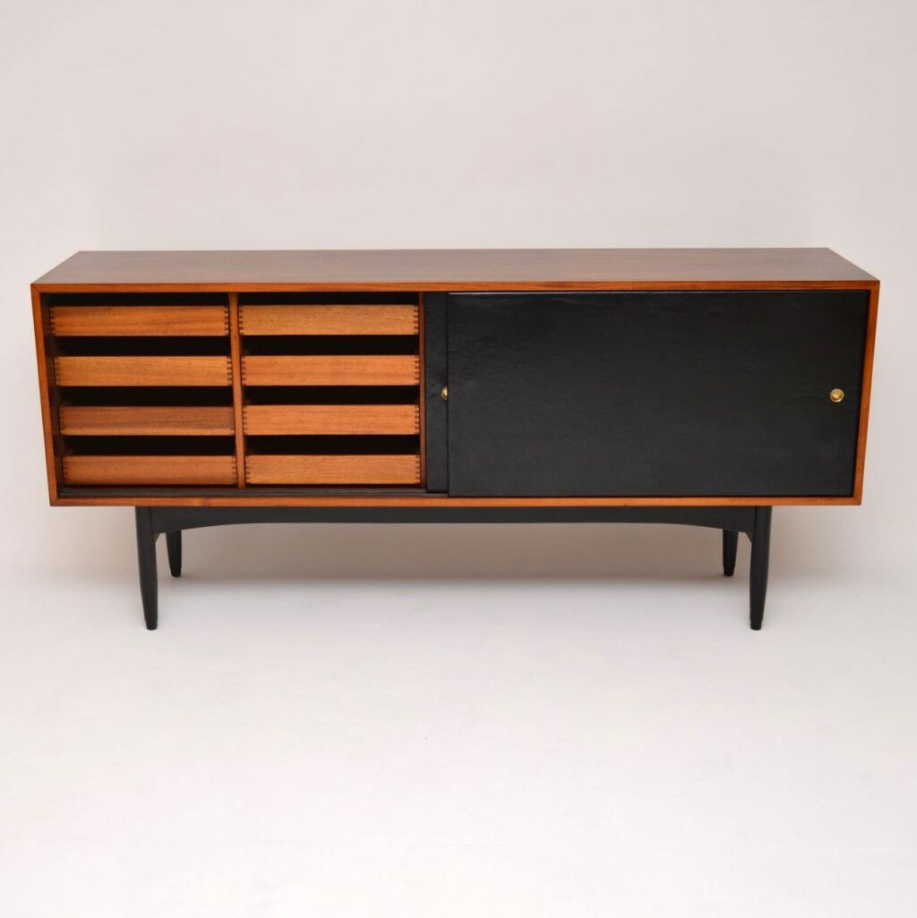 rosewood leather sideboard by robin day for hille