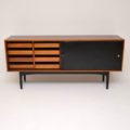 1950's Rosewood & Leather Sideboard by Robin Day for Hille