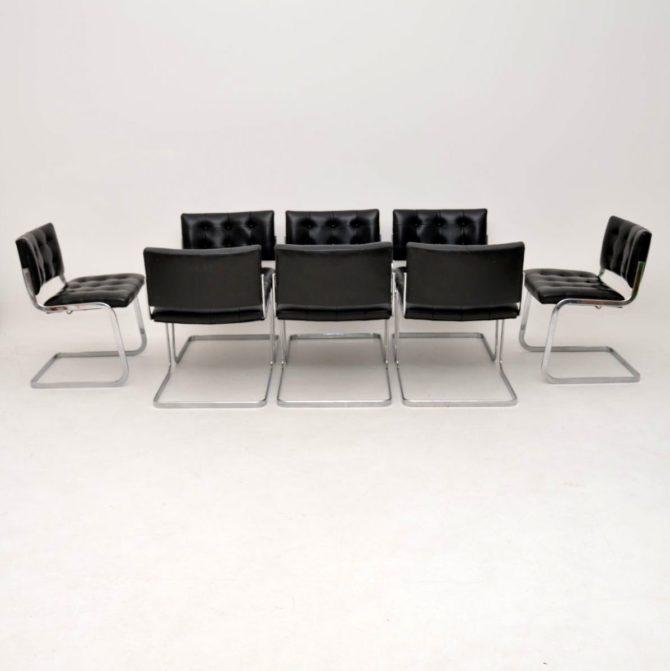 set of 8 retro vintage dining chairs de sede rh-305