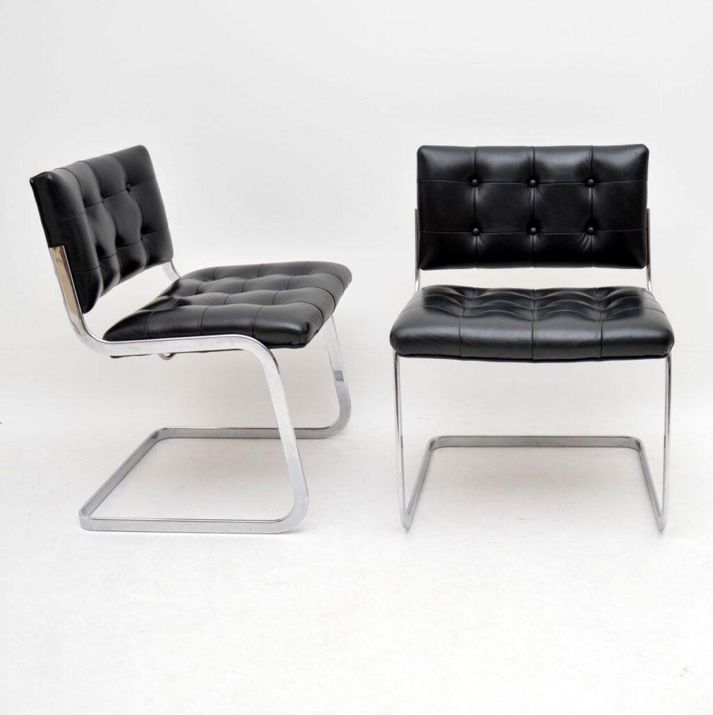 set of 8 retro vintage de sede rh-305 dining chairs