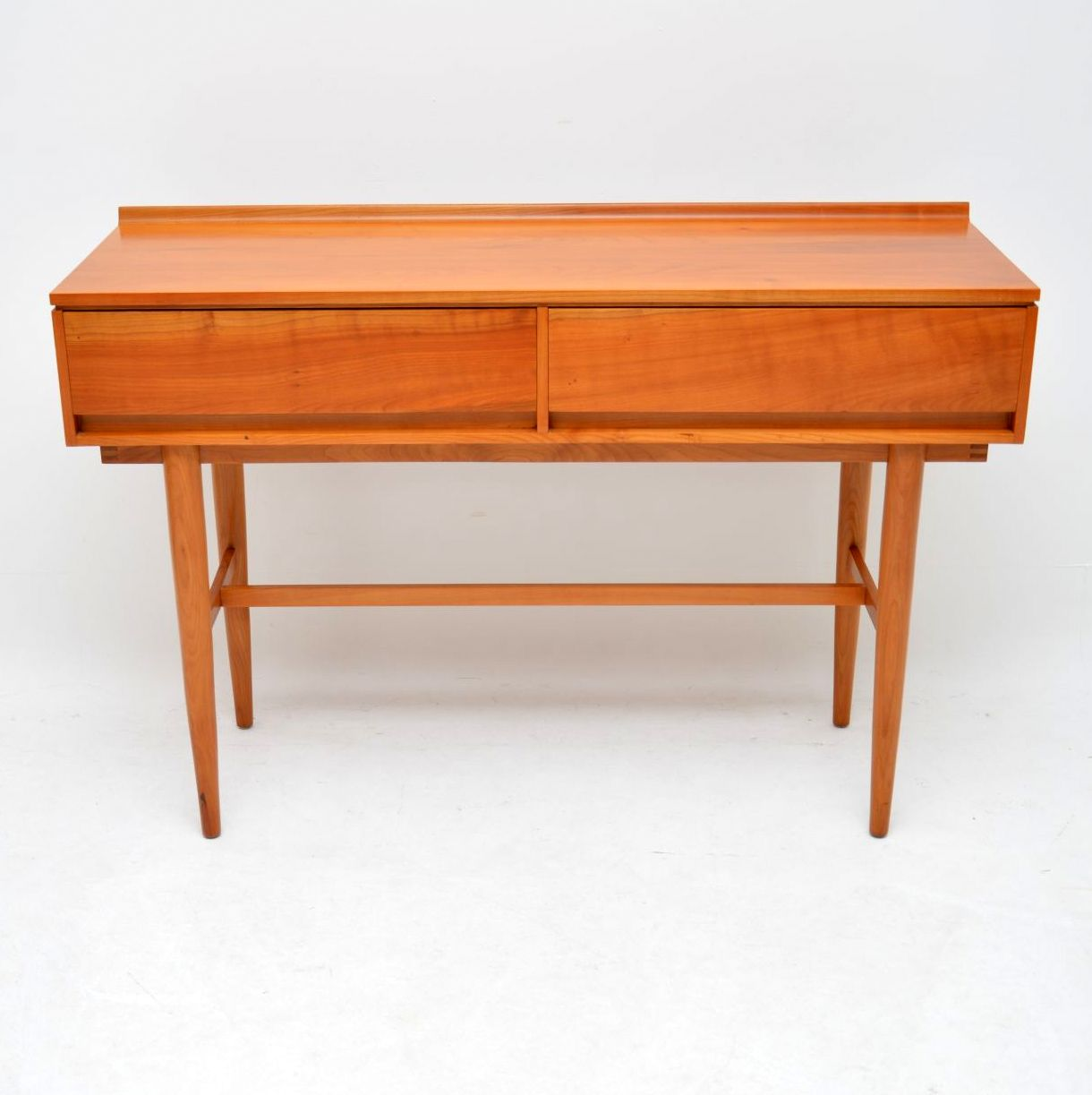 vintage retro satin wood server console table beresford & hicks