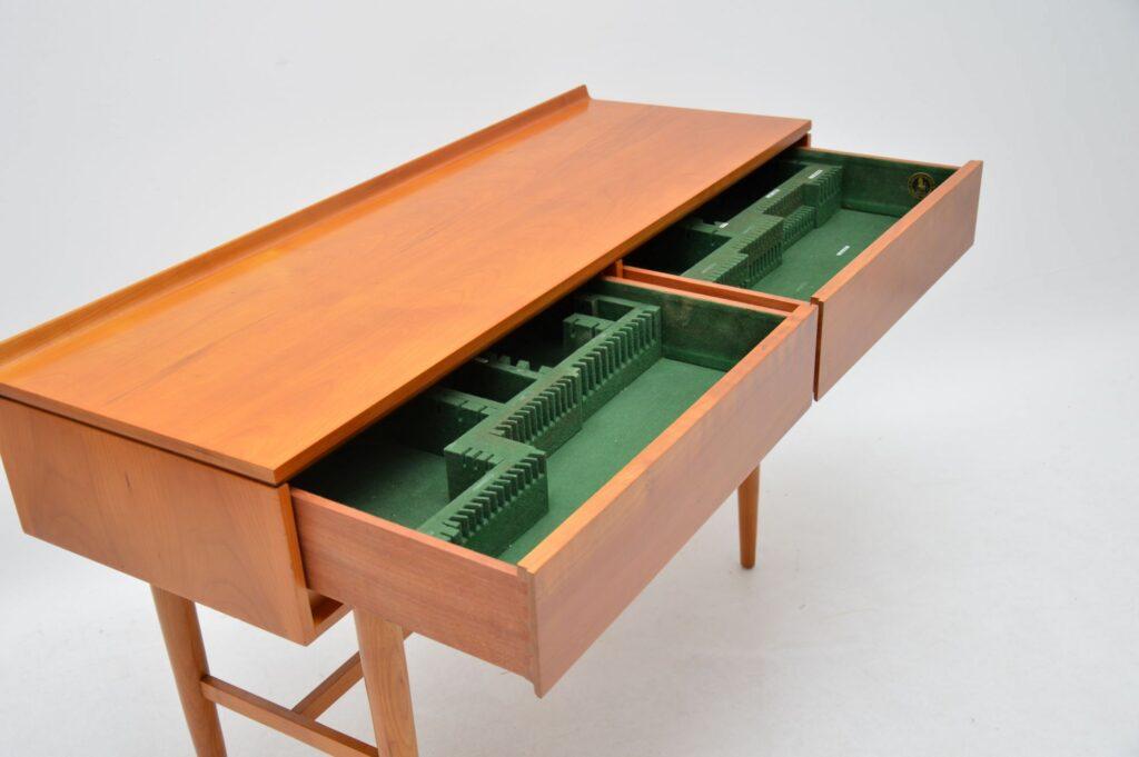vintage retro satin wood server console table beresford & hicks