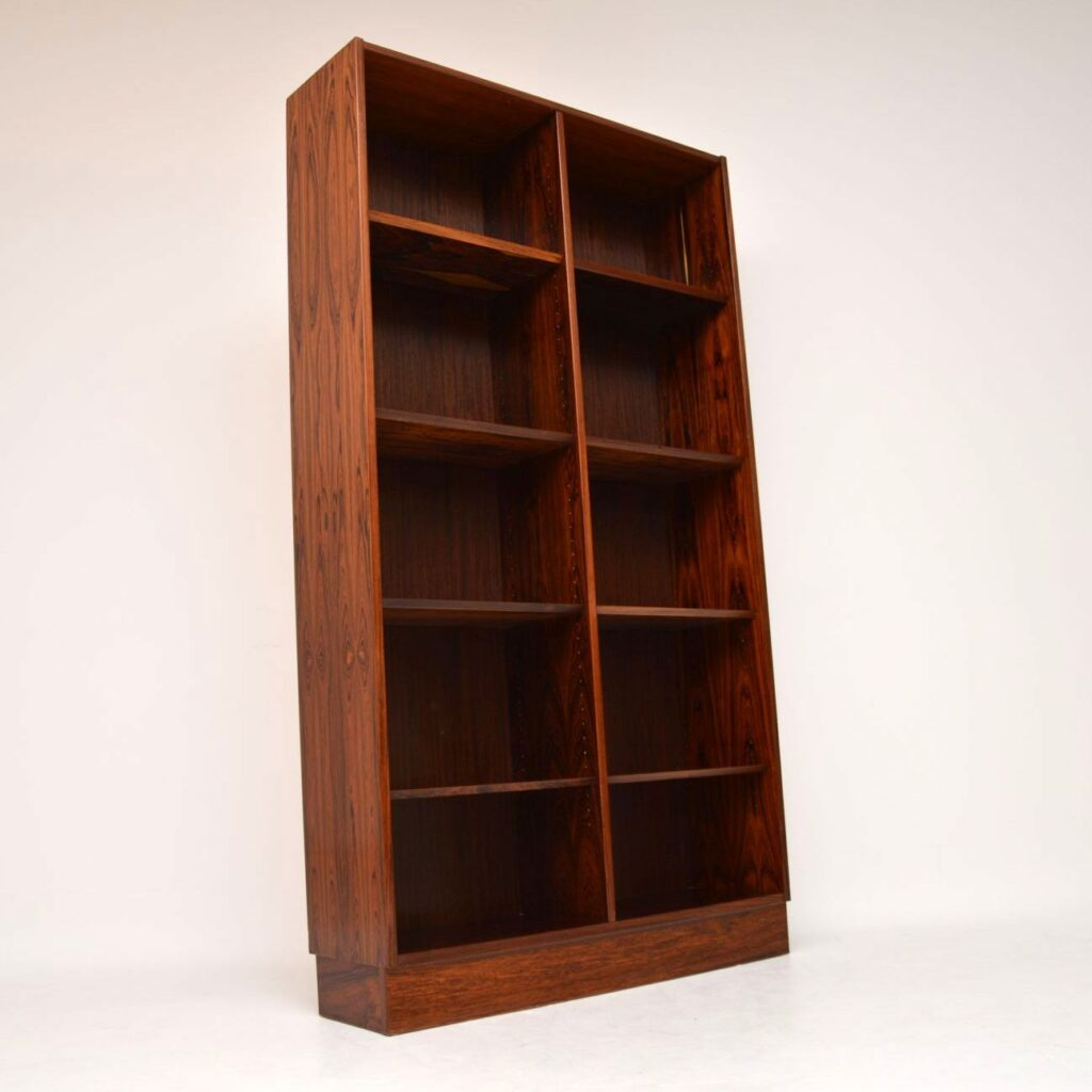 danish rosewood open bookcase poul hundevad
