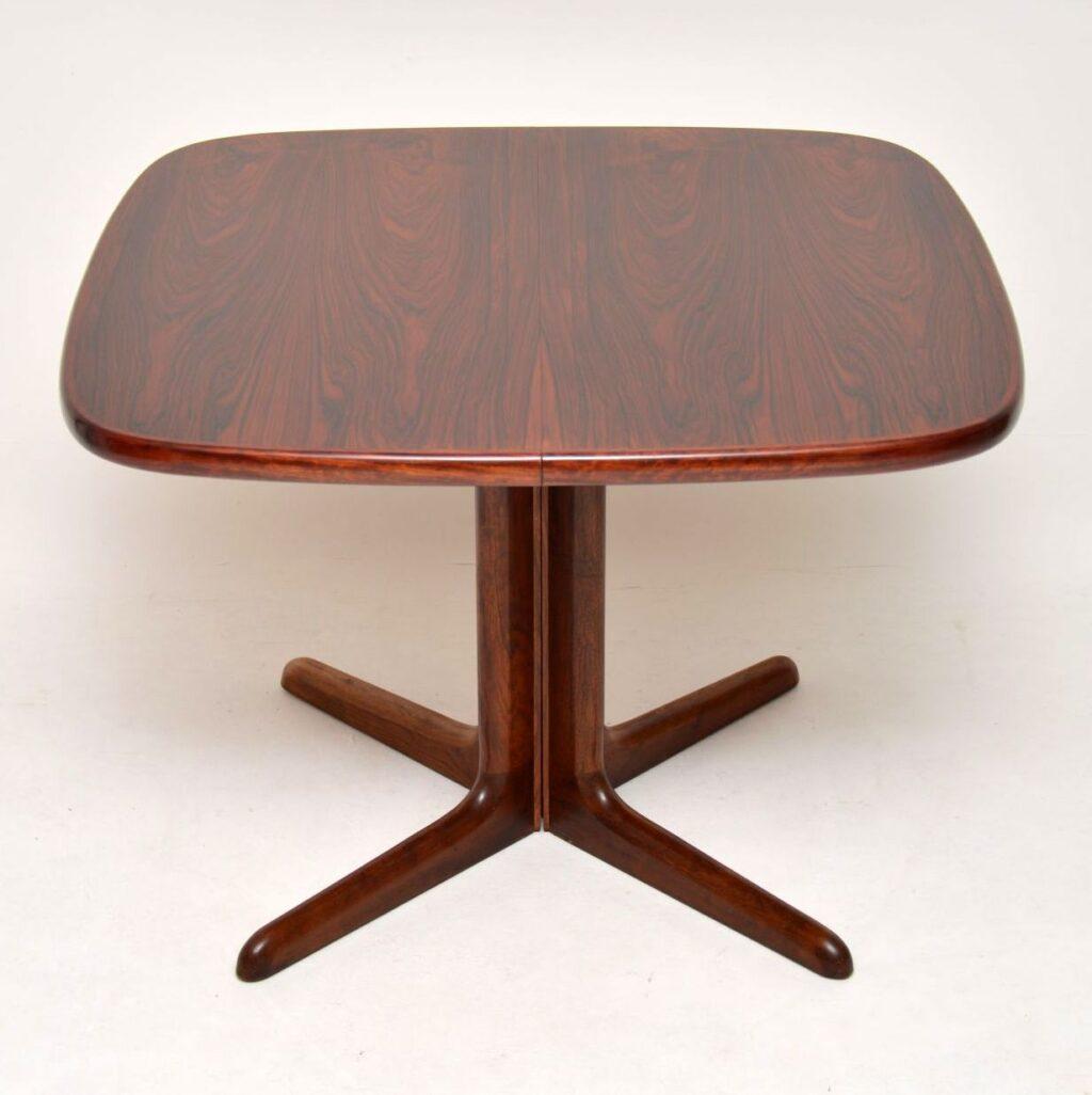 danish rosewood vintage retro dining table