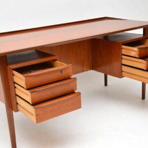 danish teak retro vintage desk tibergaard gunnar nielsen