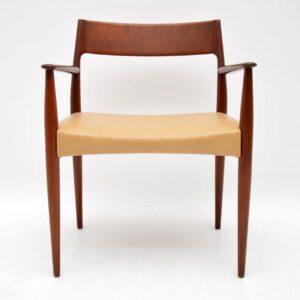 danish teak retro vintage armchair carver chair arne hovmand olsen