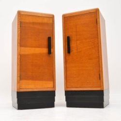 1920's Pair of Art Deco Oak Bedside Cabinets