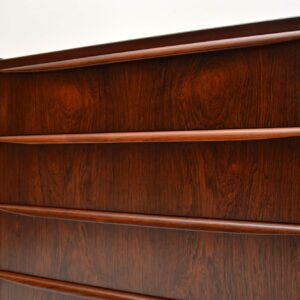 pair of danish rosewood retro vintage bedside chests chest of drawers