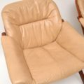 1970's Pair of Swedish Leather Armchairs