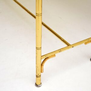 retro vintage brass console table