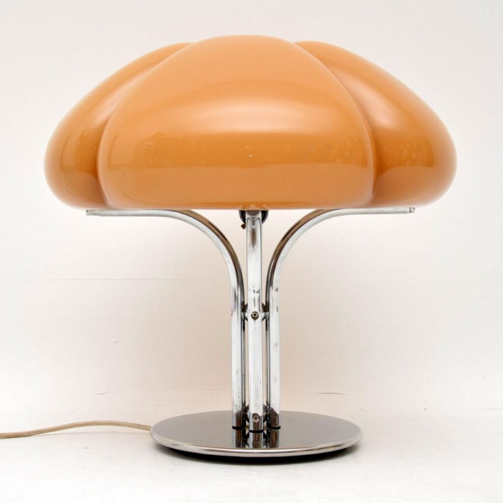 vintage retro italian guzzini lamp quadrifoglio gae aulenti