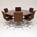 1960's Vintage Rosewood & Chrome Dining Table by Merrow Associates
