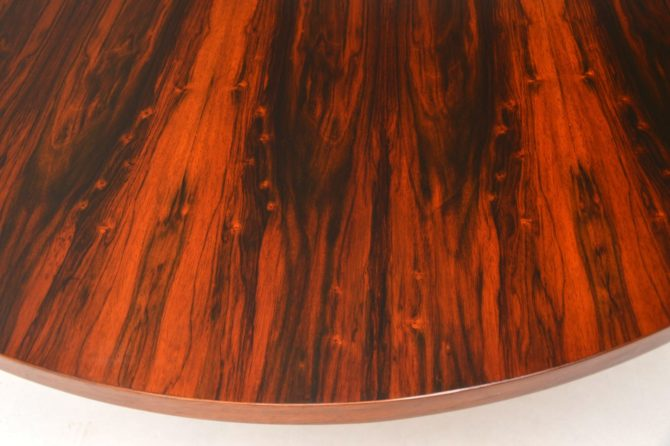 retro vintage rosewood chrome dining table merrow associates