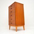 1960's Vintage Teak & Rosewood Tallboy Chest of Drawers