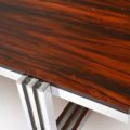 1960's Vintage Rosewood & Chrome Coffee Table