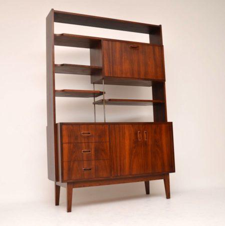 1960's Vintage Rosewood Bookcase / Room Divider Cabinet