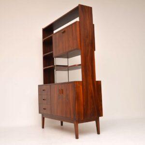 rosewood vintage retro room divider bookcase cabinet
