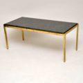 1970's Vintage Brass & Granite Coffee Table