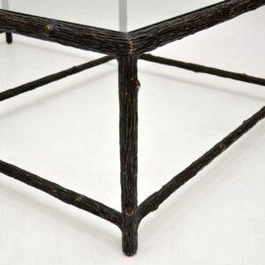 retro vintage iron tree branch coffee table