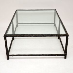 Designer Iron Tree Branch Effect Coffee Table by William Yeoward