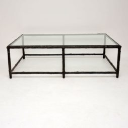 retro vintage iron tree branch coffee table