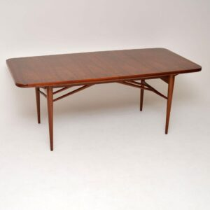retro vintage walnut dining table robert heritage archie shine