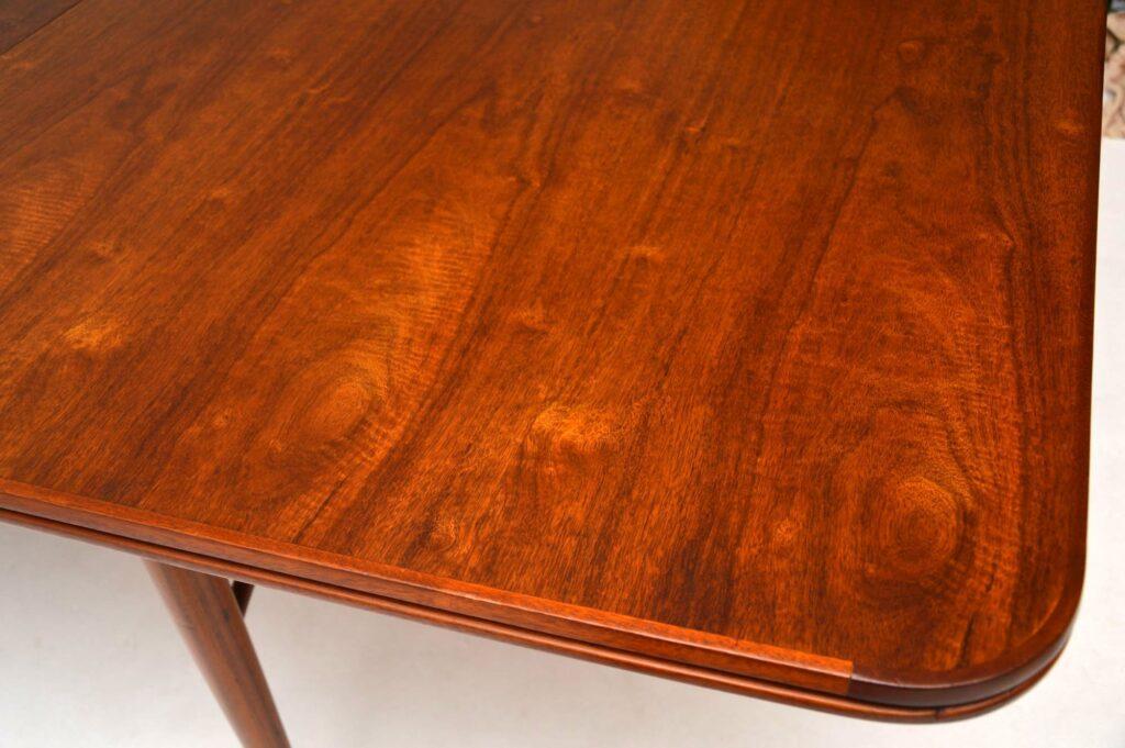 retro vintage walnut dining table robert heritage archie shine